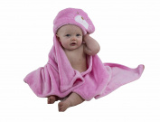 BabyMei . Kitty Hooded Towel, 100% Soft Cotton Baby Bath Robe Aspen Suitable For Newborns Infants And Toddlers