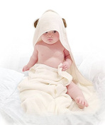 Bambu Republik Premium Bamboo Hooded Towel Extra Soft Organic and Hypoallergenic Large size for Baby Infant and Toddler Gift for Boy or Girl