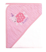Baby Hooded bath Towel 100% Cotton With Embroidery Designs Made With Love 0-18 Months
