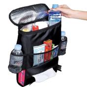 Miss.AJ Car Seat Organiser Multi-Pocket Travel Storage Bag/Insulated Car Seat Back Drinks Holder Cooler /Storage Bag Cool Wrap Bottle Bag