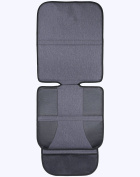 Car Seat Protector Premium Quality – Grey Durable . Fabric - High Back for Maximum Security, Support & Protection