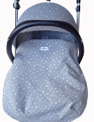 UNIVERSAL PADDED COVER LINER FOOTMUFF MAXI-COSI (MICO, CABRIOFIX, BRITAX) WINTER, SPRING, AUTUMN SACK FOR BABY CARRIERS AND GROUP 0 CHAIRS WHITE STAR by Janabebe