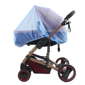 Detroital Baby Mosquito Net for Strollers Portable Baby Insect Netting Safe Mesh Buggy Crib Netting Blue