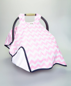 CAR SEAT COVER CANOPY,PREMIUM,NEWBORN,PINK BABY GIRL FLOWERS ,(BEST SELLER)PROUDLY MADE IN THE USA BY ROCKINGHAM ROAD