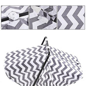 Artempo Lightweight Carseat Canopy Cover with . s, Large Perfect Newborn Protection,100% Cotton, Single Layer Zigzag