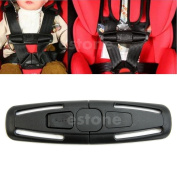 Chunshop Baby Safety Car Seat Strap Child Toddler Chest Harness Clip Safe Buckle Black