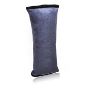Somnr® Grey Cotton Velvet Car Safety Seat Belt Shoulder Pad Pillow for Children With Golden Sun Logo