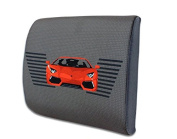 Snow Courage Memory Foam Lumbar Support Back Pillow Office Chair and Car Seat Cushion - Racing car