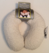 Blankets & Beyond Baby Travel Pillow Neck Support Ivory