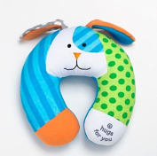Britto Bebe on the Go Puppy Baby Car Seat Travel Pillow Hugs for You Sunny New