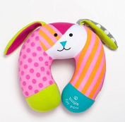 Britto Bebe on the Go Bunny Baby Car Seat Travel Pillow Hugs for You Hope