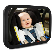 IntiPal Baby Backseat Mirror - Adjustable Shatterproof Baby Rear View Mirror,Essential Safety Car Seat Accessories for Your Baby