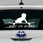 HVD-Baby on Board Funny Skating Car Truck Sticker Decal