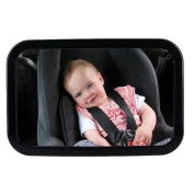 Tueenhuge Baby Car Mirror Adjustable Mirror with Shatterproof Glass Rear Facing Baby Mirrors For Infant Child Toddler
