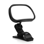 Back Seat Mirror, ONEVER Baby Safety Mirror Rear View Baby Car Seat Mirror Wide Convex Shatterproof Glass and Fully Assembled Adjustable