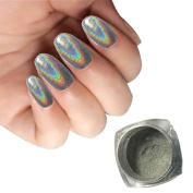 Nail Mirror Powder, Fullfun 1g/ BoxLaserSliver Nail Glitter Powder Shinning Nail Mirror Powder Makeup Nail Art DIY