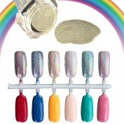 Nail Mirror Powder, Fullfun 1.5g/Box Rainbow Holographic Nail Powder Laser Chrome Nail Glitter