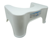 Squatting Toilet Stool 23cm by Derma Medico ® | Non-Slip Bathroom Step Up Stool | Relieves Constipation, Bloating | Aligns the Colon for Faster, Easier Relief | Proper Toilet Posture for Healthier Results | Easy Removable Sticker | The better way to ..