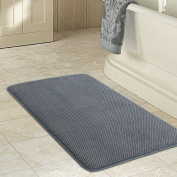 Lifewit Anti-Fatigue Luxurious 80cm x 50cm 40D Memory Foam Bathroom Mat Rubber Back Anti-slip Kitchen Rug Grey