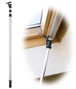 WinHux® Telescopic Window Pole Rod Designed to Control VELUX® Skylight Roof Windows AND Blinds 1.2-3.0m SILVER