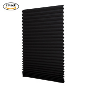 Sunfree 2 Pack Light Filtering Pleated Fabric Shade, Quick Fix and Easy to Instal, with 4 Clips