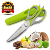 Kitchen Scissors with Protective Case by BeYself High Quality Stainless Steel and Heavy Duty Is A Household Necessity All-purpose Cooking Shears With Sharp Blades