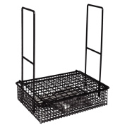 Vogue DP987 Wire Rinsing Basket For Cutlery/Crockery, Black