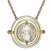 """Necklace and metal pendant. Series HARRY POTTER. Model """"Hermione - Time-Turner"""". Gold colour."""