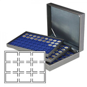 Lindner 2365-2219ME Coin case NERA XL with 3 trays and darkblue coin inserts for 27 US-coin capsules (Slabs) up to 63x85 mm