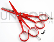 Unicorn Plus 15cm Professional Barber Hair Shears Salon Cutting Scissors Supercut Hairdressing Shears Thinning Hair Shears in 4 Different Colour + Pouch