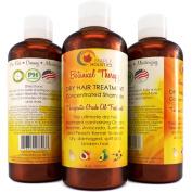 Moisturising Shampoo for Dry Damaged Hair + Scalp - Anti Frizz Deep Conditioning Cleanser - Strengthen + Repair Hair - Dry Hair Treatment - Silky Sexy Hair - Therapeutic Organic Sesame Oil & Keratin