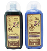 Butterfly Pea Herbal Hair Shampoo (200ml) & Conditioner (200ml) Set - 100% Natural Active Ingredient - Darkens & Nourishes Your Hair after every shower!