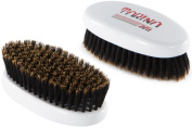 Torino Pro -#440 Boar Bristle Palm Soft Hair Brush - Easy 360 Waves - Handheld Military Round Oval Design - Naturally Moisturise, Condition, Reduce Frizz,Strengthen, Promote Circulation
