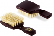 Torino Pro #150 Boar Bristle Club Medium Hair Brush - Easy 360 Waves - Naturally Moisturise, Condition, Reduce Frizz, Exfoliate, Strengthen, Promote Circulation of Hair Roots