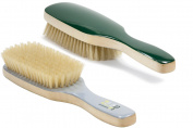 Torino Pro # 310 Boar Bristle Paddle Hair Brush - Easy 360 Waves - (Medium) Natural Boar Bristles- Naturally Moisturise, Condition, Reduce Frizz, Exfoliate,Promote Circulation of Hair Roots 8 rows