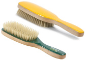Torino Pro # 250 Boar Bristle Paddle Hair Brush - Easy 360 Waves - (Medium) Natural Boar Bristles- Naturally Moisturise, Condition, Reduce Frizz, Exfoliate,Promote Circulation of Hair Roots 7 rows