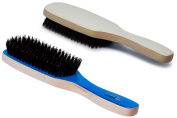 Torino Pro #200 Boar Bristle Paddle Hair Brush - Easy 360 Waves - (Medium) Natural Boar Bristles-Naturally Moisturise, Condition, Reduce Frizz, Exfoliate,Promote Circulation of Hair Roots 9 rows