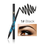 JaneDream 2 In 1 Eyebrow Pencil Black Eyeliner Double End Eyebrow Pen Natural Colour Easy to Wear 1# Black