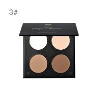 HUBEE Matte Press Powder Bronzer Contour Palette Long Lasting Makeup Concealer