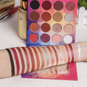 DE'LANCI 16 Colours Matte & Shimmer Eyeshadow Highly Pigmented