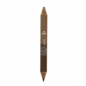 Duo fard et liner bio - Avril - Liner bronze cuivré / Fard beige doré