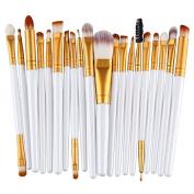 MAANG 20 pcs Makeup Brush Set tools Make-up Toiletry Kit Wool Make Up Brush Set - Gold