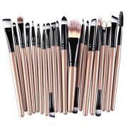 MAANG 20 pcs Makeup Brush Set tools Make-up Toiletry Kit Wool Make Up Brush Set (Black )
