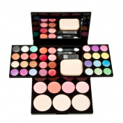 Eyeshadow,Baomabao Eyeshadow Palette Blusher Lip Gloss Shimmer Makeup Kit Brush Mirror Cosmetic Set