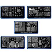 BMC 5pc XL Nail Plate Set - Around the World 2