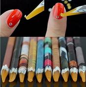 Nail Art Picker Resin Pencil Rhinestones Dotting Pick up Tool Wax Pen 10Pcs