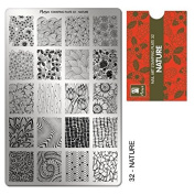 """MOYRA STAMPING PLATE """"NATURE"""" HIGH QUALITY STAMPING PLATE"""