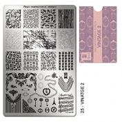 """MOYRA STAMPING PLATE """"VINTAGE 5.1cm HIGH QUALITY STAMPING PLATE"""