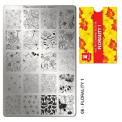 """MOYRA STAMPING PLATE """"FLORALITY 2.5cm HIGH QUALITY STAMPING PLATE"""