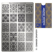 """MOYRA STAMPING PLATE """"DAMASK DRAPERY"""" HIGH QUALITY STAMPING PLATE"""